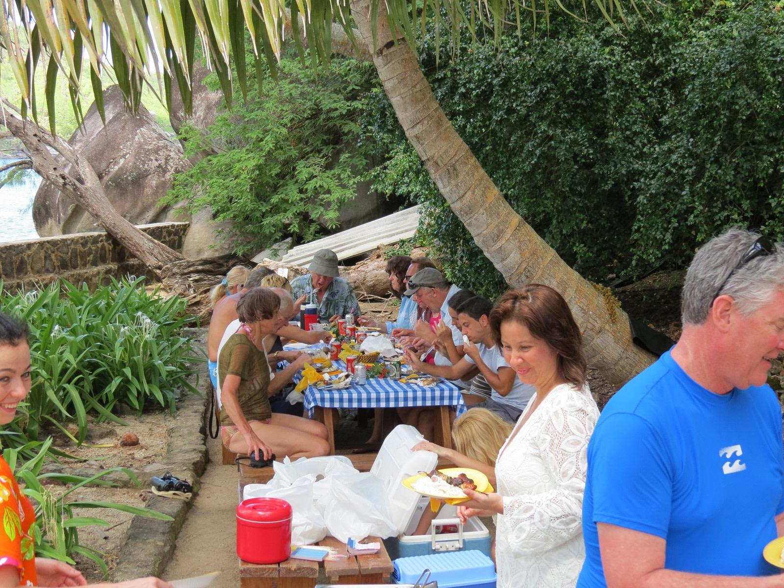 BBQ at Moyennes Island, Seychelles